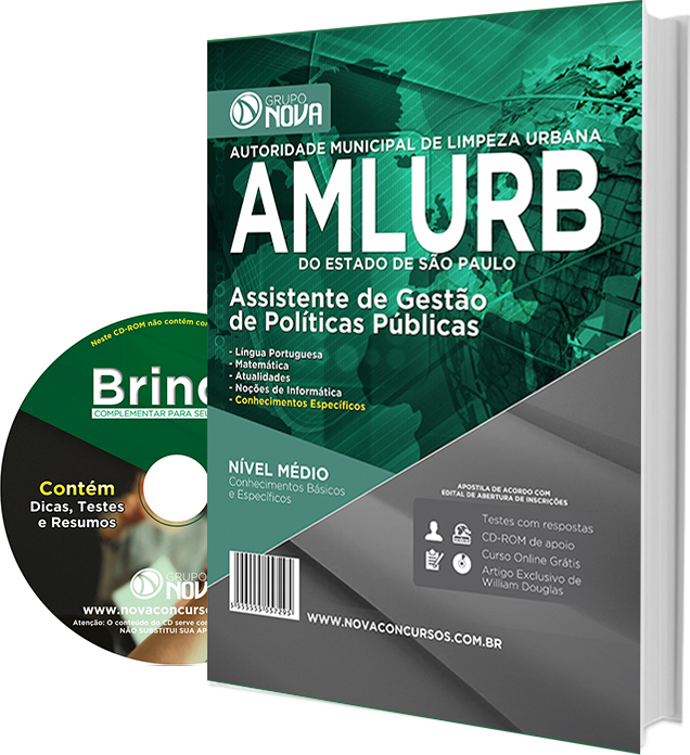 Apostila AMLURB - 2016 - Assistente de Gestão de Políticas Públicas
