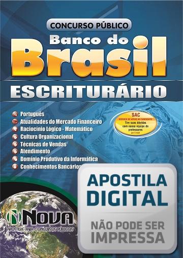 Apostila Digital - Escriturário - Banco do Brasil