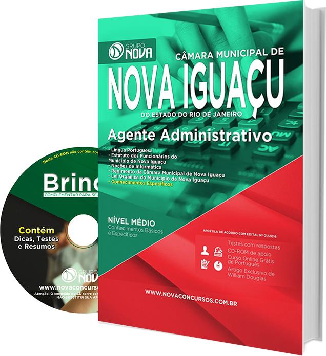 Apostila Câmara de Nova Iguaçu RJ 2016 - Agente Administrativo