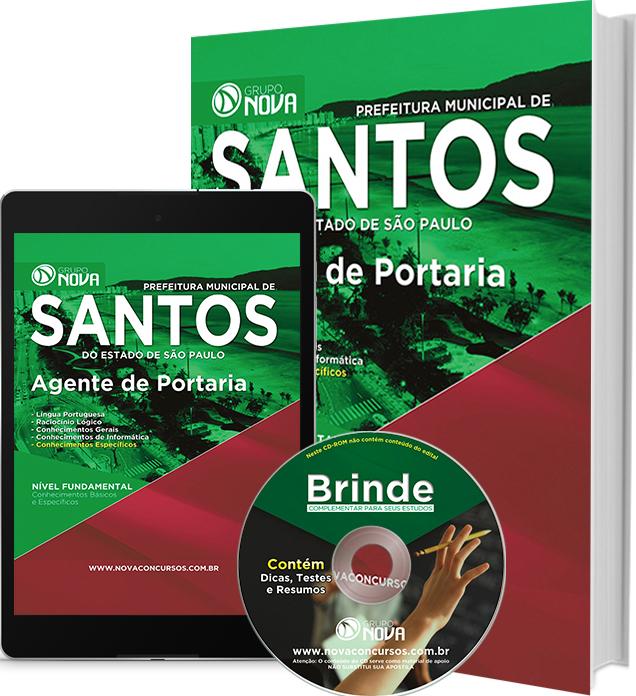 Apostila Prefeitura de Santos 2016 - Agente de Portaria