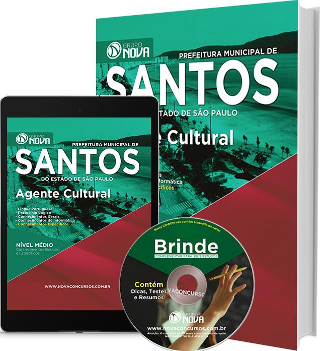 Apostila Prefeitura de Santos 2016 - Agente Cultural