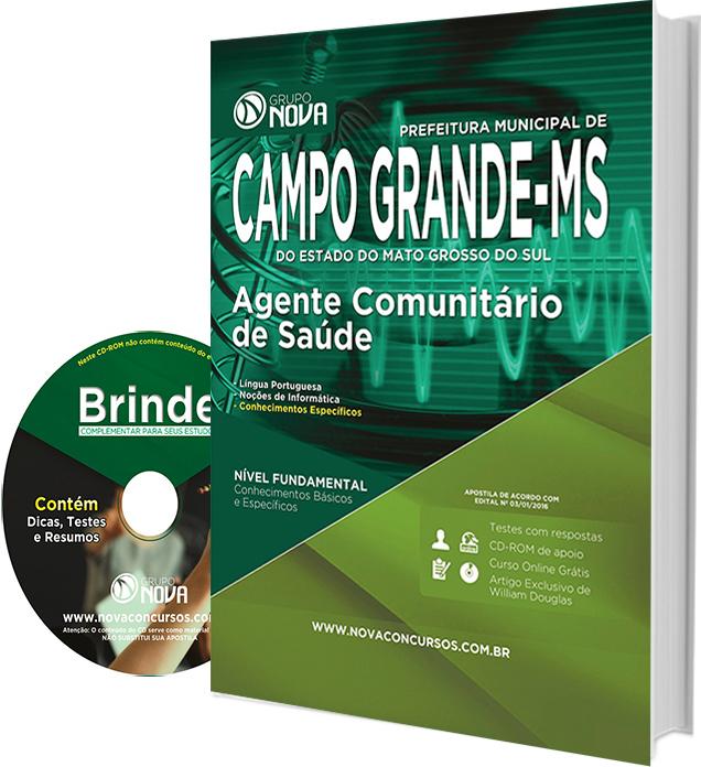 Apostila Prefeitura de Campo Grande 2016 - Agente Comunitário de Saúde