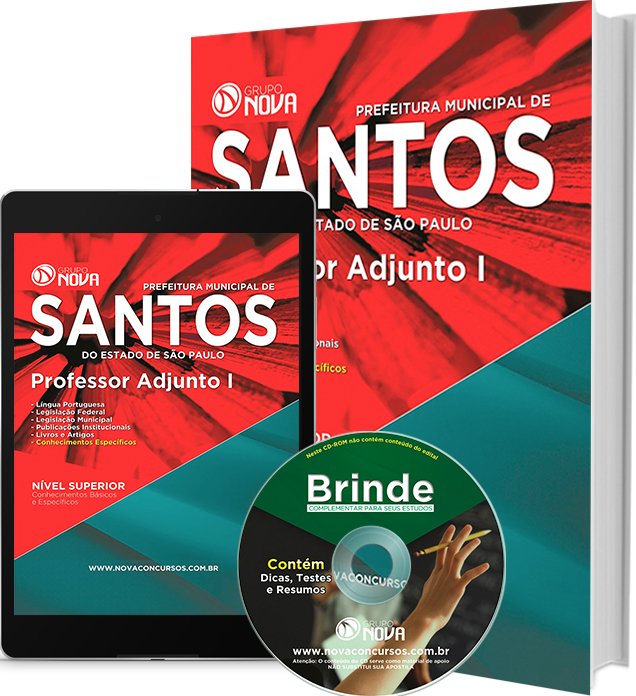 Apostila Prefeitura de Santos 2016 - Professor Adjunto I