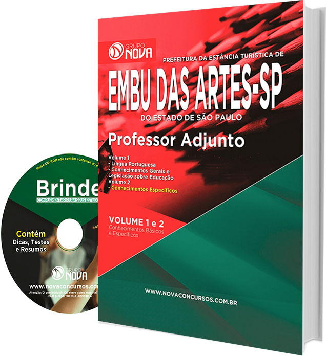 Apostila Prefeitura de Embu das Artes 2016 Professor Adjunto.