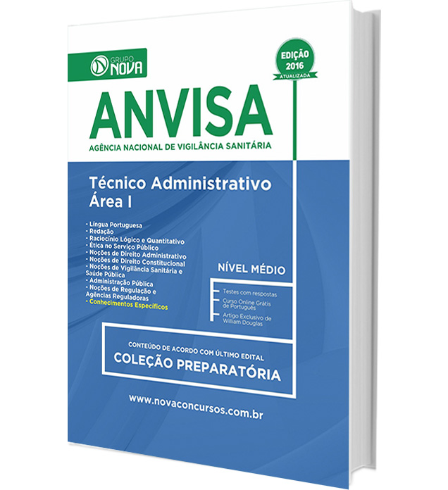 Apostila ANVISA - Técnico Administrativo
