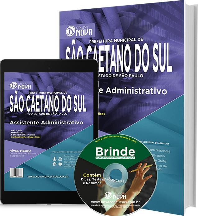 Apostila Prefeitura de São Caetano do Sul - 2015 - Assistente Administrativo