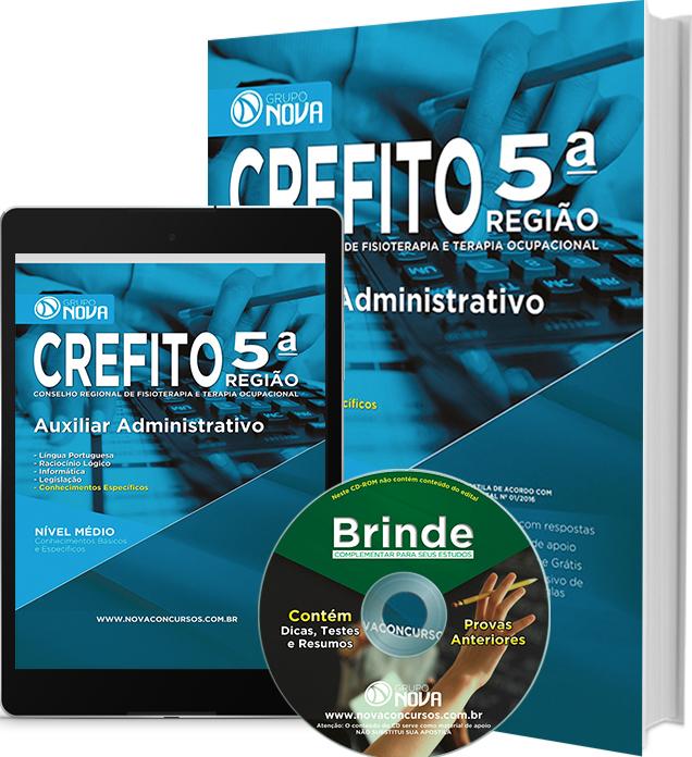 Apostila CREFITO - 5ª Região 2016 - Auxiliar Administrativo