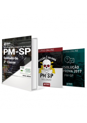 Kit Missão Soldado PM-SP 2017 - Apostila + Curso Online
