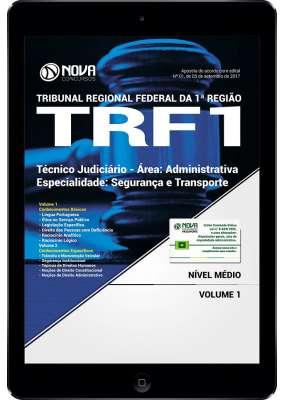Download Apostila TRF 1ª Região Pdf - Técnico Judiciário - Área: Administrativa - Especialidade: Segurança e Transporte