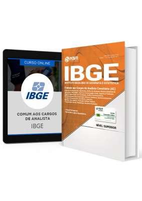 Combo IBGE - Apostila + Curso Online Comum aos Cargos de Analista