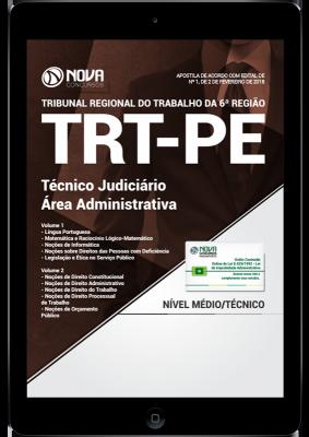 Download Apostila TRT-PE 6 ª Região PDF - Técnico Judiciário - Área Administrativo