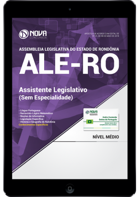 Download Apostila Assembleia Legislativa - RO (ALE-RO) - Assistente Legislativo (Sem Especialidade) (PDF)