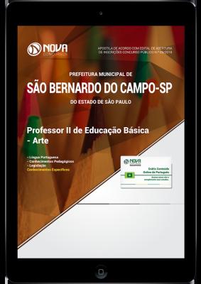 Download Apostila Prefeitura de São Bernardo do Campo - SP - Professor II de Educação Básica - Arte (PDF)