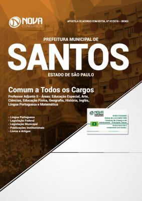 Apostila Prefeitura de Santos - SP - Comum a Todos os Cargos b5a481386e611