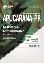 Apostila Prefeitura de Apucarana PR - Assistente Administrativo