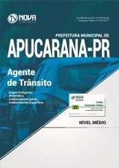 Apostila Prefeitura de Apucarana PR - Agente de Trânsito