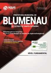 Apostila Prefeitura de Blumenau-SC - Motorista para as categorias: B, C, D e E