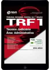 Download Apostila TRF 1ª Região 2017 Pdf - Técnico Judiciário - Área: Administrativa