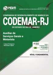 Apostila Codemar-RJ (Pref. de Maricá) - Auxiliar de Serviços Gerais e Motorista