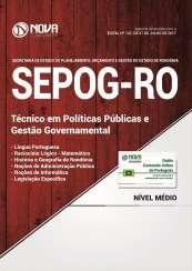 Apostila SEPOG-RO - Técnico em Políticas Públicas e Gestão Governamental