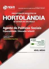Apostila Prefeitura de Hortolândia - SP - Agente de Políticas Sociais – Educador Infantil