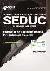 Apostila SEDUC-MT - Professor de Educação Básica - Matemática