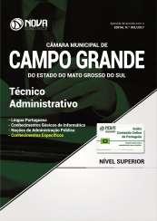 Apostila Câmara de Campo Grande - MS - Técnico Administrativo