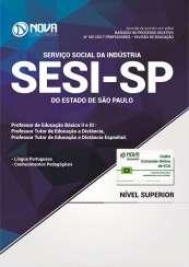 Apostila SESI-SP - Professor de Educação Básica II e III: Prof. Tutor de Ed. a Distância / Prof. Tutor de Ed. a Distância Espanhol