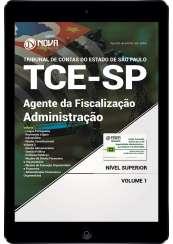 Download Apostila TCE SP 2017 PDF - Agente da Fiscalização - Administração