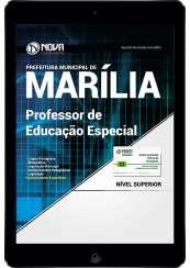 Download Apostila Prefeitura de Marília SP PDF - Professor de Educação Especial