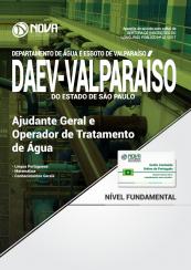 Apostila DAEV-Valparaíso - SP - Ajudante Geral e Operador de Tratamento de Água