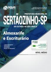Apostila Prefeitura de Sertãozinho - SP - Almoxarife e Escriturário