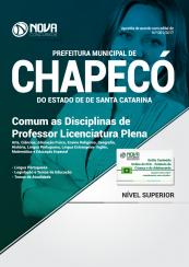 Apostila Prefeitura de Chapecó - SC - Comum as Disciplinas de Professor Licenciatura Plena