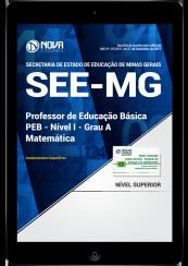 Download Apostila SEE-MG PDF - Professor de Educação Básica - PEB - Nível I - Grau A: Matemática