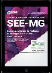 Download Apostila SEE-MG PDF - Comum aos Cargos de Professor de Educação Básica - PEB - Nível I - Grau A
