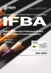 Apostila IFBA - Cursos da Educação Profissional Técnica de Nível Médio na Forma Subsequente