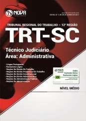 Apostila TRT-SC (12ª Região) - Técnico Judiciário - Área Administrativa
