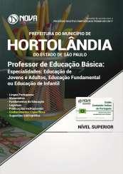 Apostila Prefeitura de Hortolândia - SP - Prof. de Educação Básica: Educação Infantil, Educ. Fundamental e Educ. de Jovens e Adultos
