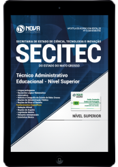 Download Apostila SECITEC-MT PDF - Técnico Administrativo Educacional - Nível Superior