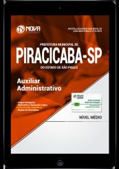 Download Apostila Prefeitura de Piracicaba - SP PDF - Auxiliar Administrativo