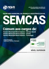 Apostila Prefeitura de São Luís - MA (SEMCAS) - Comum aos Cargos de Técnico Municipal Nível Superior