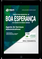 Download Apostila Prefeitura de Boa Esperança - MG PDF - Agente de Serviços Administrativos