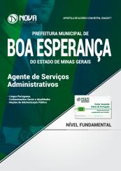 Apostila Prefeitura de Boa Esperança - MG - Agente de Serviços Administrativos