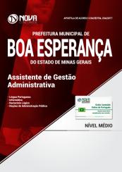 Apostila Prefeitura de Boa Esperança - MG - Assistente de Gestão Administrativa