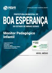Apostila Prefeitura de Boa Esperança - MG - Monitor Pedagógico Infantil