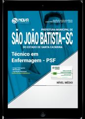 Download Apostila Prefeitura de São João Batista-SC PDF - Técnico em Enfermagem - PSF