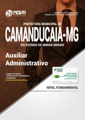 Apostila Prefeitura de Camanducaia - MG - Auxiliar Administrativo