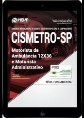 Download Apostila CISMETRO - SP PDF - Motorista de Ambulância 12X36 e Motorista Administrativo