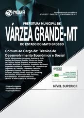 Apostila Prefeitura de Várzea Grande - MT - Técnico de Desenvolvimento Econômico e Social