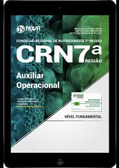 Download Apostila CRN 7ª Região PDF - Auxiliar Operacional